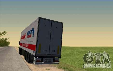 Прицеп Для MAN TGX для GTA San Andreas вид сзади слева