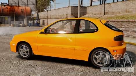 Daewoo Lanos Sport US 2001 для GTA 4 вид слева