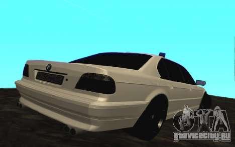 BMW 750iL E38 с мигалками для GTA San Andreas вид справа