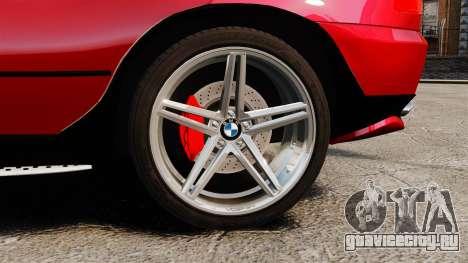 BMW X5 4.8iS v3 для GTA 4 вид сзади