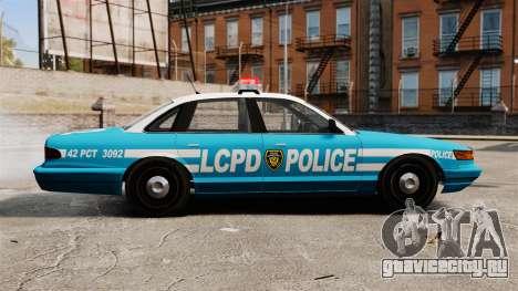LCPD Police Cruiser для GTA 4 вид слева