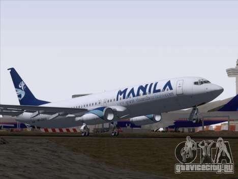 Boeing 737-800 Spirit of Manila Airlines для GTA San Andreas вид сбоку
