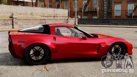 Chevrolet Corvette Z06 для GTA 4 вид слева