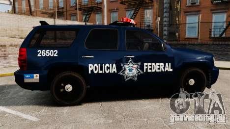 Chevrolet Tahoe 2007 De La Policia Federal [ELS] для GTA 4 вид слева