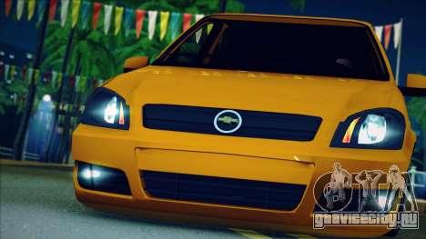 Chevrolet Celta для GTA San Andreas вид сзади