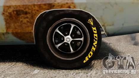Dodge Charger RT 1969 ржавый v1.1 для GTA 4 вид сзади
