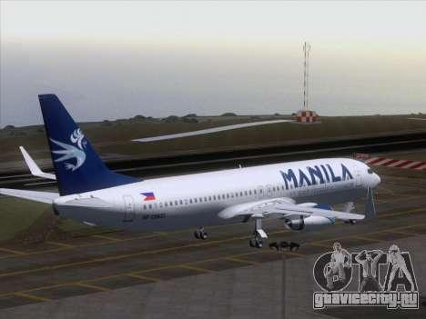 Boeing 737-800 Spirit of Manila Airlines для GTA San Andreas вид снизу