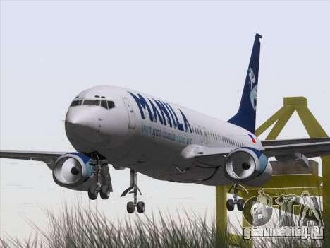Boeing 737-800 Spirit of Manila Airlines для GTA San Andreas вид сзади