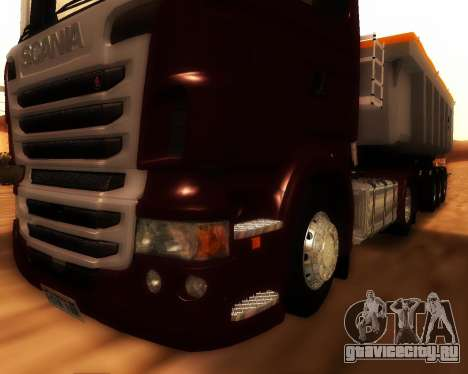Scania R440 для GTA San Andreas вид изнутри