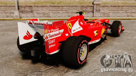 Ferrari F138 2013 v6 для GTA 4 вид сзади слева