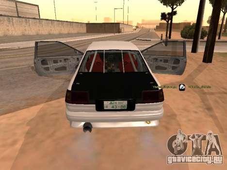 Toyota Corrola GTS JDM для GTA San Andreas вид слева