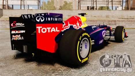 Болид Red Bull RB9 v5 для GTA 4 вид сзади слева