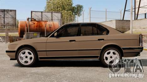 BMW M5 E34 для GTA 4 вид слева