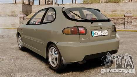 Daewoo Lanos Sport PL 2000 для GTA 4 вид сзади слева