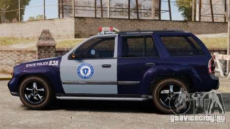 Chevrolet Trailblazer 2002 Massachusetts Police для GTA 4 вид слева