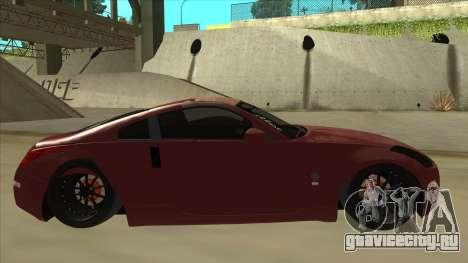 Nissan 350Z JDM для GTA San Andreas вид сзади слева