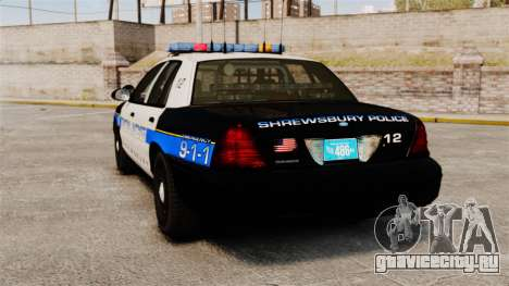 Ford Crown Victoria Police Massachusetts ELS для GTA 4 вид сзади слева