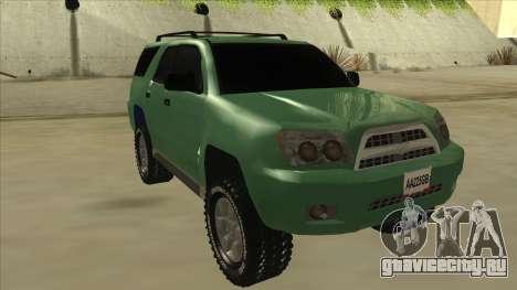 Toyota 4Runner 2009 v2 для GTA San Andreas вид слева
