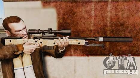 Снайперская винтовка AW L115A1 с глушителем v9 для GTA 4