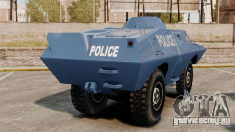 S.W.A.T. Police Van для GTA 4 вид сзади слева