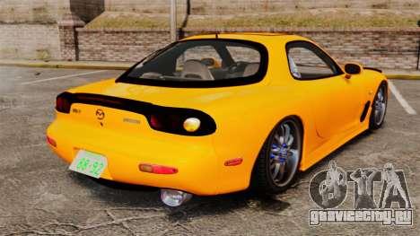 Mazda RX-7 FD3S для GTA 4 вид сзади слева