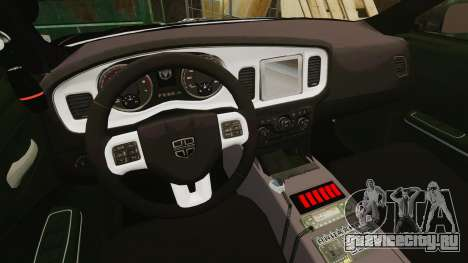 Dodge Charger Pursuit 2012 [ELS] для GTA 4 вид сзади