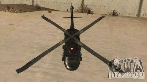 Sikorsky UH-60L Black Hawk Mexican Air Force для GTA San Andreas вид сбоку