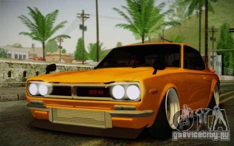 Nissan Skyline 2000GT-R Hoon для GTA San Andreas вид сзади