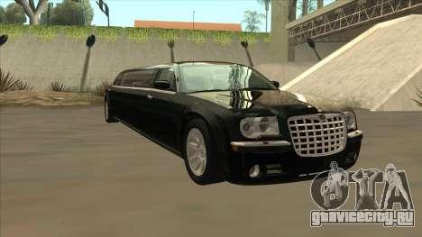 Chrysler 300C Limo 2006 для GTA San Andreas вид сзади