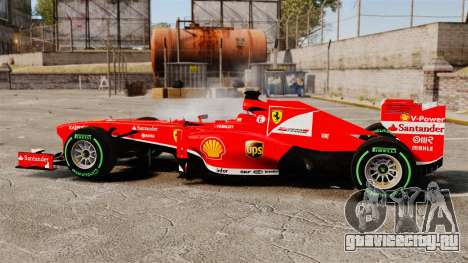 Ferrari F138 2013 v3 для GTA 4 вид слева