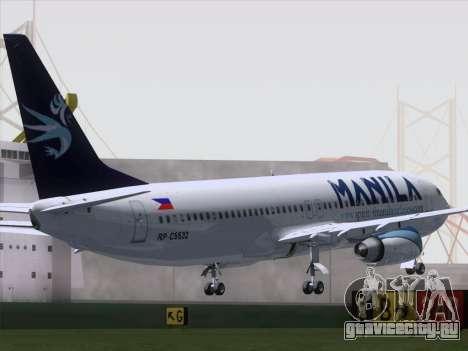 Boeing 737-800 Spirit of Manila Airlines для GTA San Andreas