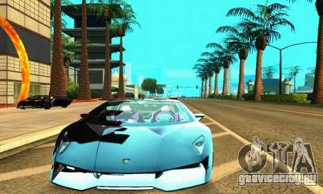 Lamborghini Sesto Elemento для GTA San Andreas вид слева