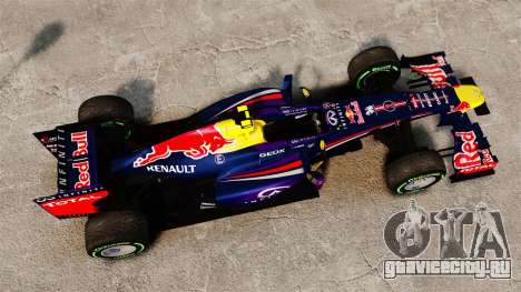 Болид Red Bull RB9 v3 для GTA 4 вид справа