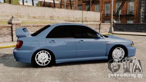 Subaru Impreza WRX 2001 для GTA 4 вид слева
