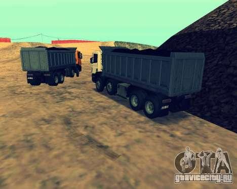 Scania P420 8X4 Dump Truck для GTA San Andreas вид сбоку