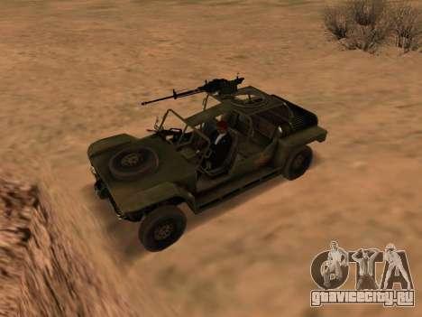 FAV из Battlefield 2 для GTA San Andreas вид слева