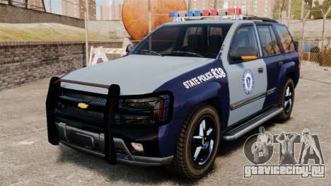 Chevrolet Trailblazer 2002 Massachusetts Police для GTA 4