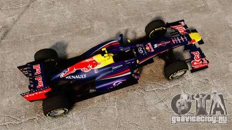 Болид Red Bull RB9 v5 для GTA 4 вид справа