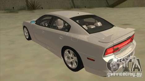 Dodge Charger RT 2011 V2.0 для GTA San Andreas вид сзади