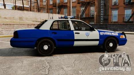 Ford Crown Victoria Police Massachusetts ELS для GTA 4 вид слева