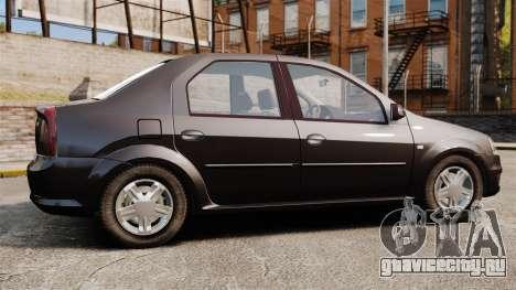 Dacia Logan 2008 v2.0 для GTA 4 вид слева