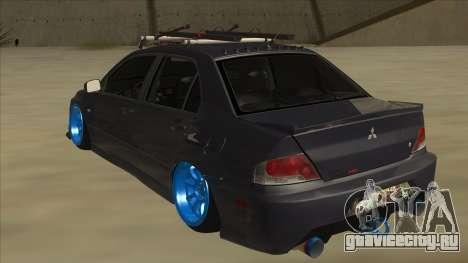 Mitsubishi Evo VIII MR JDM для GTA San Andreas вид сзади