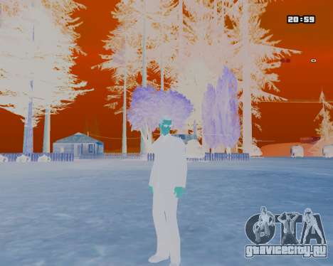 White NarcomaniX Colormode для GTA San Andreas второй скриншот
