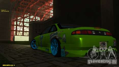 Nissan Silvia S14 CIAY для GTA San Andreas вид изнутри
