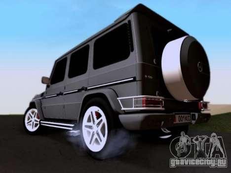 Mercedes-Benz G55 AMG для GTA San Andreas вид снизу