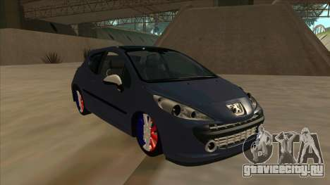 Peugeot 207 RC для GTA San Andreas вид слева