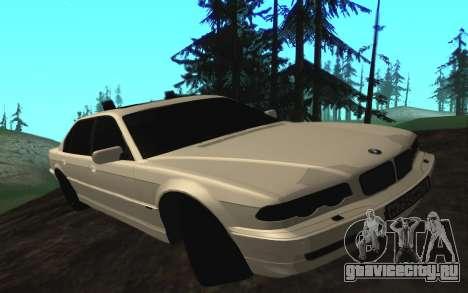 BMW 750iL E38 с мигалками для GTA San Andreas вид слева