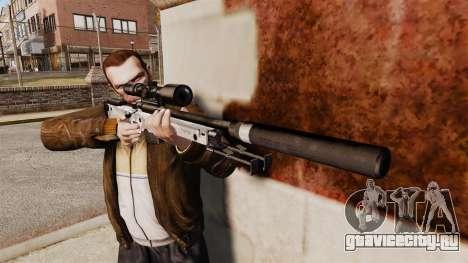 Снайперская винтовка AW L115A1 с глушителем v6 для GTA 4