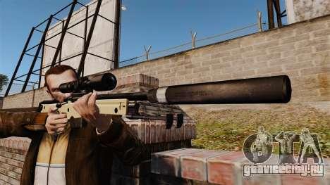 Снайперская винтовка AW L115A1 с глушителем v2 для GTA 4