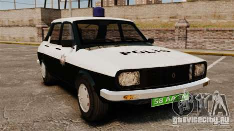 Renault 12 Classic 1980 Turkish Police для GTA 4